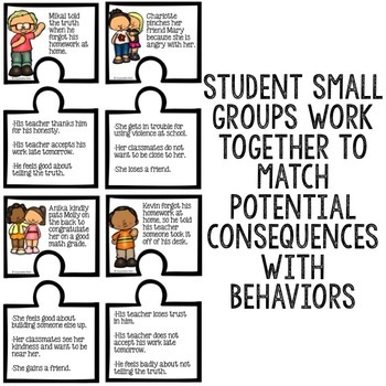 Behaviors and Consequences Classroom Guidance Lesson Behavior Scoot Activity