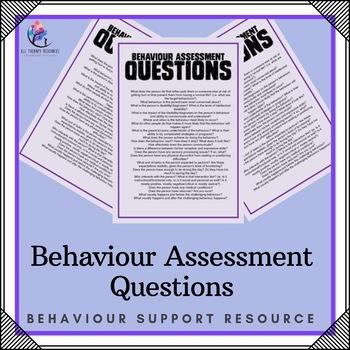 Behavior Assessment Questions
