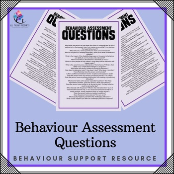 Behavior Assessment Questions