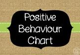 Behaviour/Behavior Chart