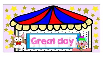 Behaviour / Behavior Chart Theme Circus