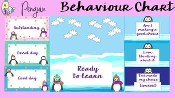Behaviour / Behavior Chart -Themed Penguins