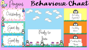 Behaviour / Behavior Chart -Themed Penguins