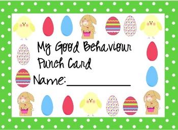 Behaviour Card - Easter Themed