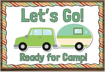 Behaviour Clip Chart Camping Theme