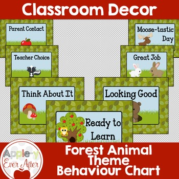 Behaviour Chart - Forest Animal Theme