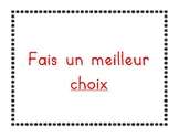 Behaviour Chart (French)