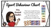 Behaviour Chart Sport Theme