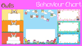 Behaviour / Behavior Chart -Themed Owls