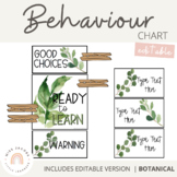 Behaviour Clip Chart Editable   Natural Classroom Theme