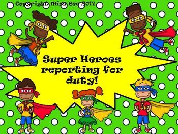 Behaviour Clip chart - Superhero theme