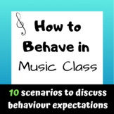 Behaviour Expectations for Music Class
