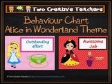 Behaviour Management Chart 'Alice in Wonderland' Theme