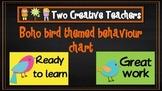 Behaviour Management Chart Boho Bird Theme