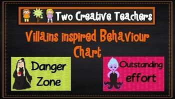 Behaviour Management Chart 'Fairytale Villains' Theme