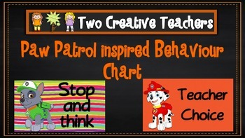 Behaviour Management Chart 'Paw Patrol' Theme