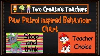 Behaviour Management Chart 'Paw Patrol' Theme
