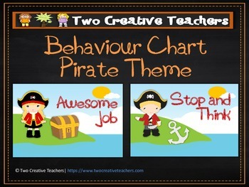 Behaviour Management Chart 'Pirates' Theme 3