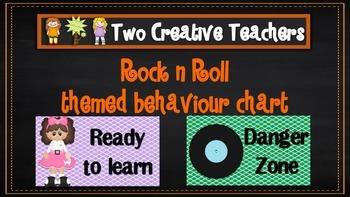 Behaviour Management Chart 'Rock 'n' Roll' Theme