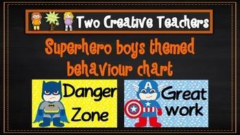 Behaviour Management Chart 'Superhero' Theme