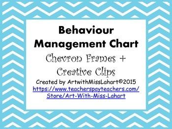 Behaviour Management Clip Chart- Bright Chevron Frames