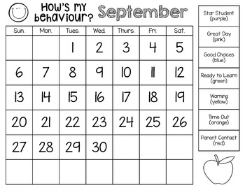 Behaviour Management Clip Chart with Monthly Calendars {Now Editable!}
