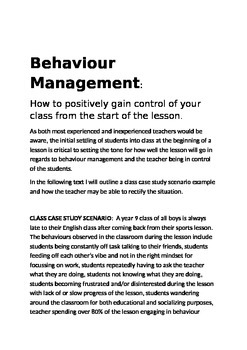 Behaviour Management: How To Begin Lesson's With Positive Classroom Control