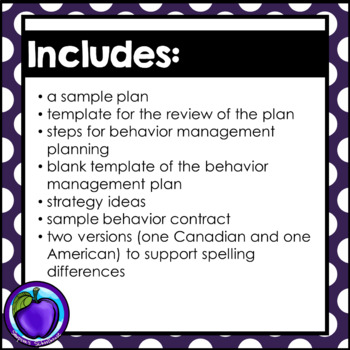 Behaviour Management Plan