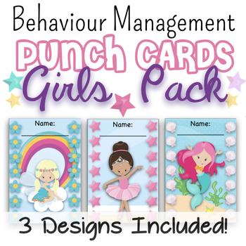Behaviour Management Punch Cards - Girls Pack!