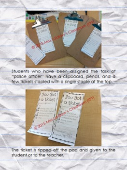Behaviour Management - Safety Infraction Tickets