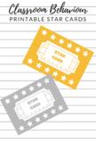 Behaviour Management Star Cards