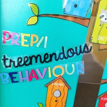 Behaviour Management Step Chart - Treehouse theme!