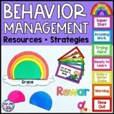 Behavior Management Chart and Resources {Rainbow Theme}