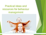 Behaviour Management Support PowerPoint for Parent Workshop