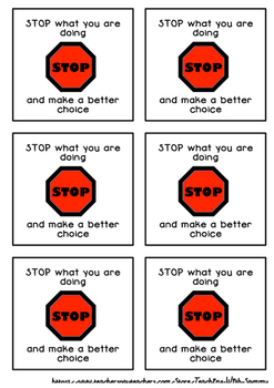 Behaviour Management Tool - Stop what you are doing using self-regulation