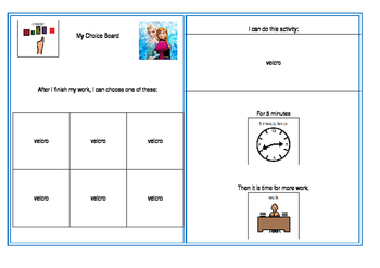 Behaviour Monitoring Choice Boards
