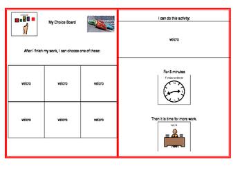 Behaviour Monitoring Choice Boards