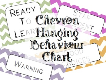 Chevron Hanging Behaviour Chart