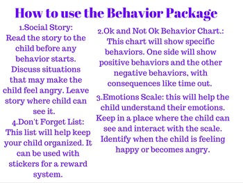 Behaviour Package for Young Children