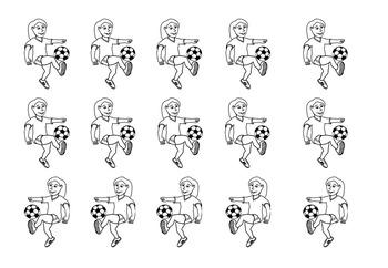 Behaviour Printable: Blank Football/ Soccer Pitch