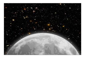 Behaviour Printable: Blank Moon Space Aliens