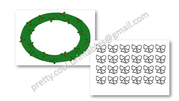 Behaviour Printable: Christmas Bow on a Holly Wreath