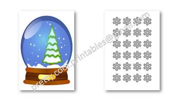Behaviour Printable: Christmas Snowflakes in a Snowglobe