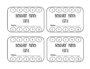 Behaviour Punch Cards