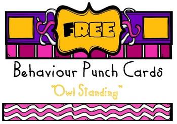 Behaviour Punch Cards - FREEBIE