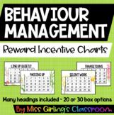 Behaviour Reward Incentive Charts - Native Flora Theme