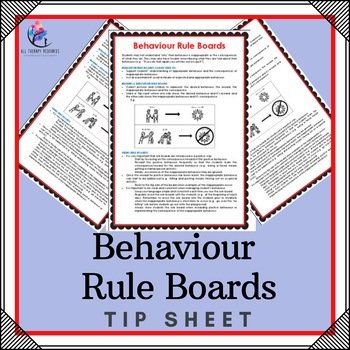 Behaviour Rule Boards - One Page Tip Sheet