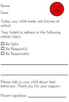 Behaviour Note