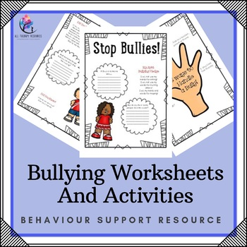 Bullying Worksheets and Activity - 4 page reflective Activity | TpT