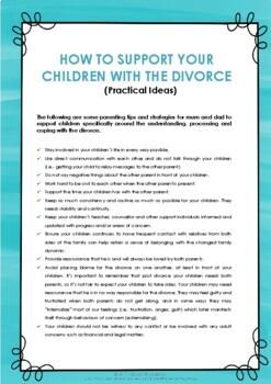 Behaviour Support: Divorce Tip Sheet - How to Support Your Children